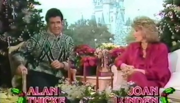 Joan Lunden and Alan Thick host the 1987 Christmas Day Parade from the Magic Kingdom