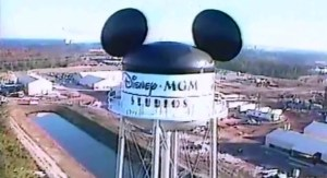 SamsDisneyDiary #101: The 1987 Walt Disney World Very Merry Christmas Day Parade - Regis high atop the new Disney MGM Studios water tower