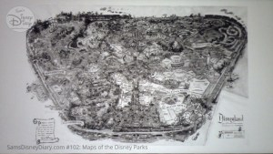 A photo of Sam McKims original Dsneyland Fun Map, this one is NOT in the book. - From D23 Expo 2017 Maps of the Disney Parks and the book and the book