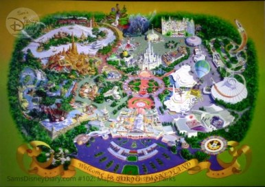 Tokyo Disneyland, Fine Art Map- From D23 Expo 2017 Maps of the Disney Parks and the book