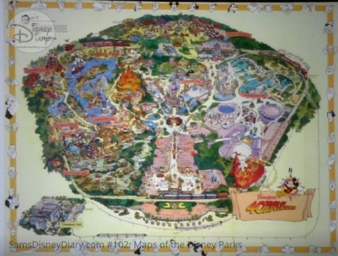 Disneyland 40th Anniversary Fun Map - From D23 Expo 2017 Maps of the Disney Parks and the book