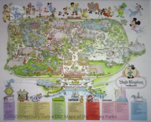 Walt Disney World Magic Kingdom Fun Map - From D23 Expo 2017 Maps of the Disney Parks and the book