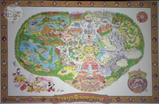 Tokyo Disneyland - From D23 Expo 2017 Maps of the Disney Parks and the book