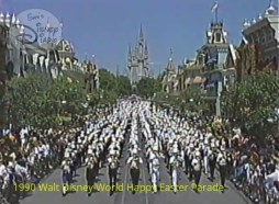 1990 Walt Disney World Happy Easter Parade - A 500-piece Honor Band starts the parade at the magic kingdom