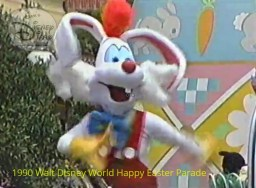 1990 Walt Disney World Happy Easter Parade - Rodger Rabbit gets a musical number.