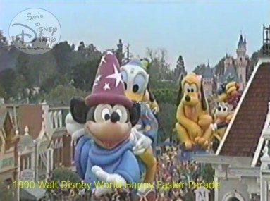 "1990 Walt Disney World Happy Easter Parade - Disneyland is celebrating it's 35th anniversary The ""Party Gras"" parade"