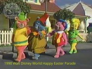 1990 Walt Disney World Happy Easter Parade - Mickey's Star Land is now open at the Magic Kingdom, featuring the new show Mickey's TV World. with the Gummy Bears