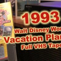 Walt Disney World Vacation Planning.... in 1993