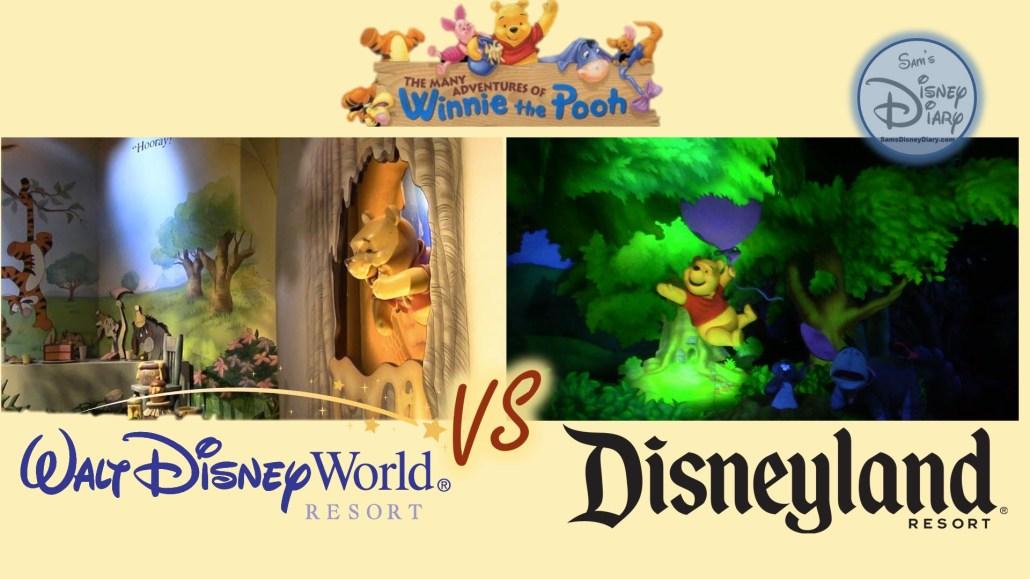 The Many Adventures of Winnie the Pooh (Disneyland vs Walt Disney World) Side by Side