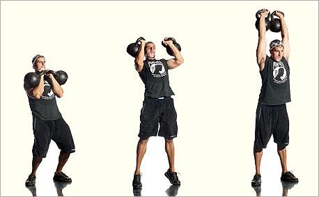 Упражнения с гирей 16 или 24 кг | Твой Фитнес