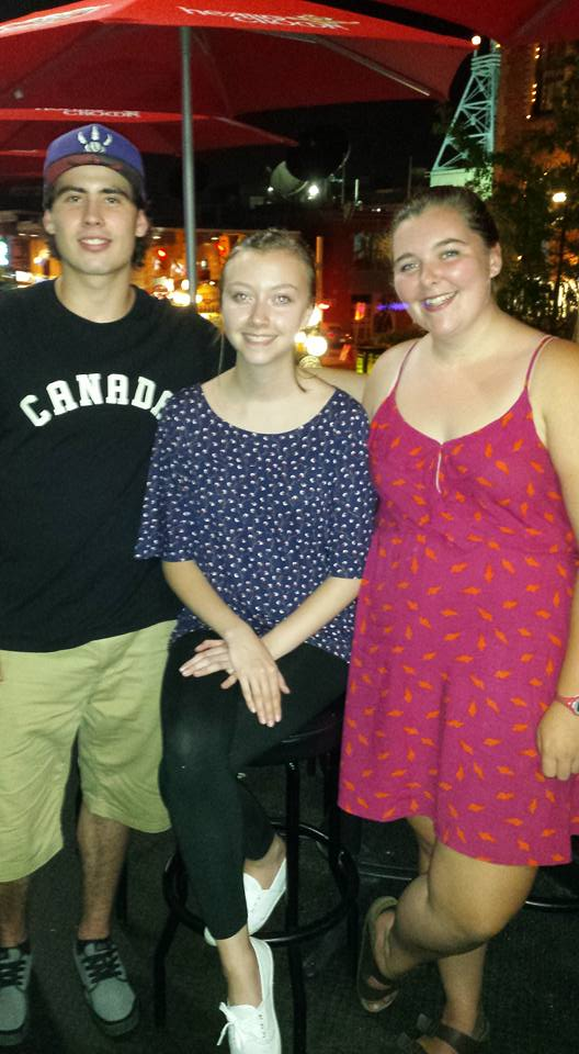 Dinner with Lauren and my cousin Luke