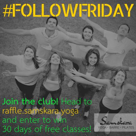 Samskara yoga dulles sterling #followfriday raffle