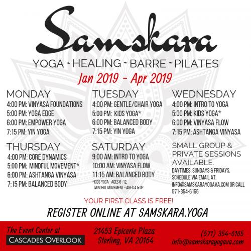 Samskara Event Center Yoga Barre Pilates Classes
