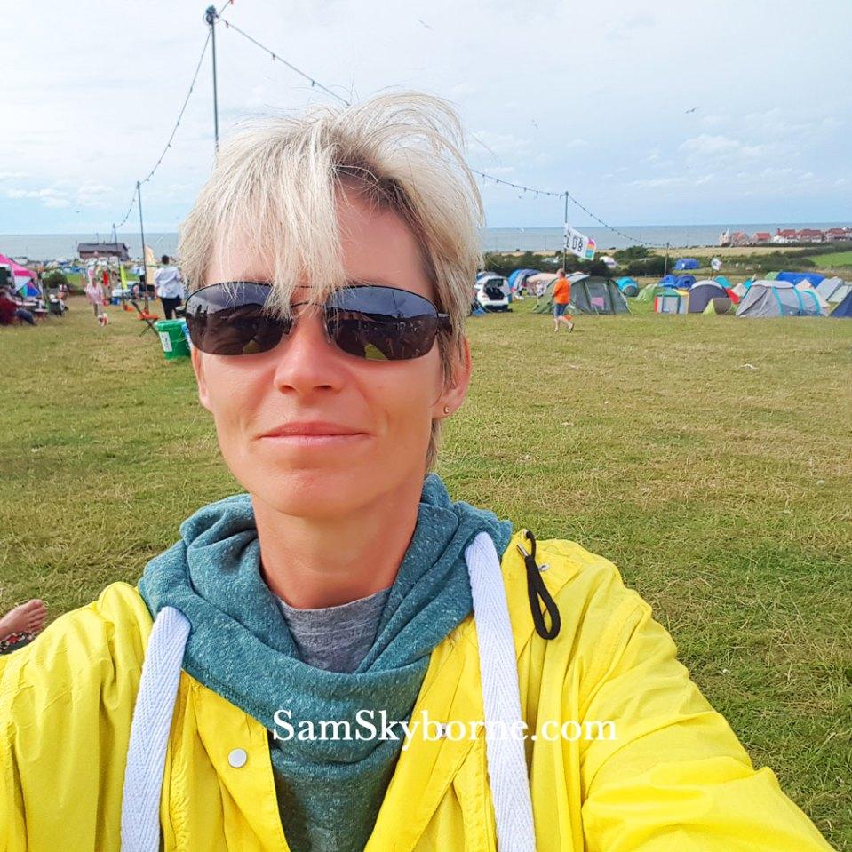 Sam Skyborne Selfie on campsite