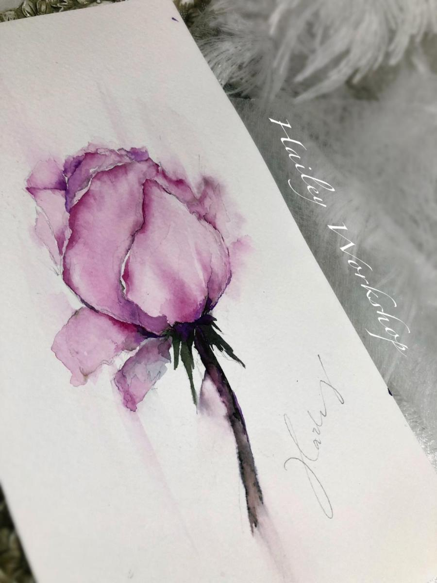 Rose Watercolour Painting Class 水彩玫瑰花畫班