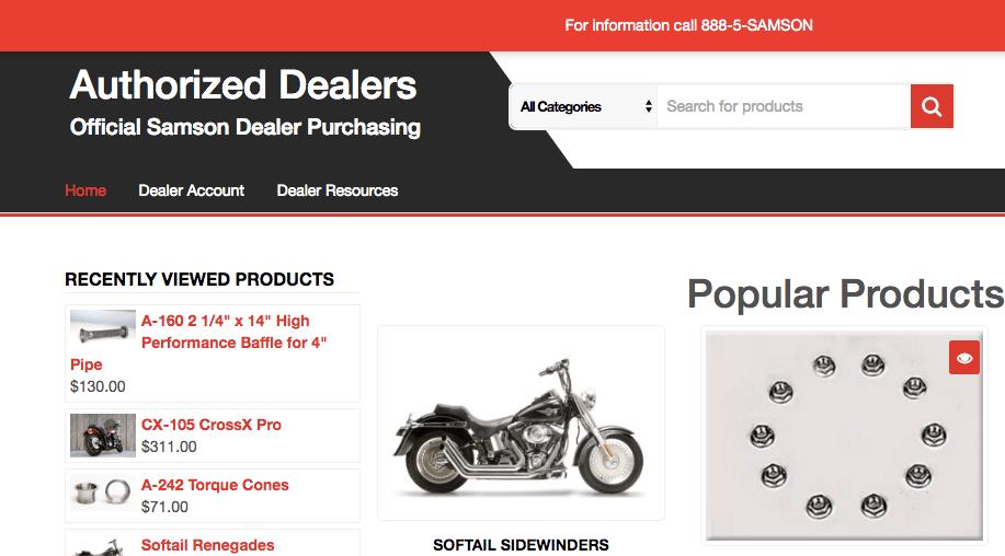 Samson Launches Authorized Dealer E-Commerce Website