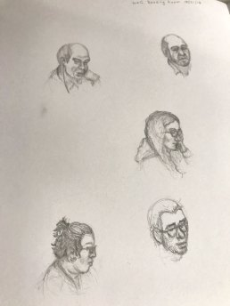 Life sketching from the Reading Room - Library of Congress