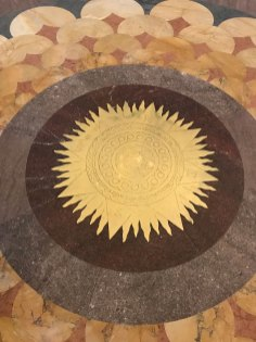 Sun Compass in the middle of the floor