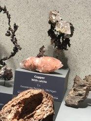 Copper suspended in calcite