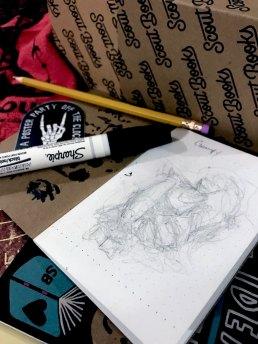 BTS of my rough sketch
