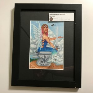 Queen of Swords Krystalline Tarot Original