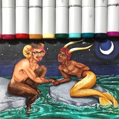 Aries & Capricorn (MerMay 2018)