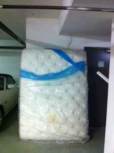 Disposal of a mattress or bed and box spring