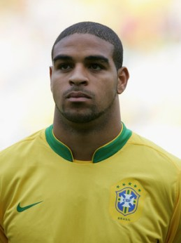 GENEVA - JUNE 04: Adriano of Brazil before the international friendly match between Brazil and New Zealand at the Stadium de Geneva on June 4, 2006 in Geneva, Switzerland. (Photo by Stuart Franklin/Getty Images)