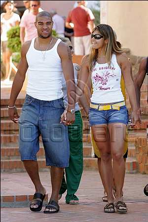 Adriano with his supposed girlfriend