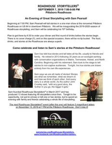 Raodhouse Storytellers Sept show with Same Pearsall
