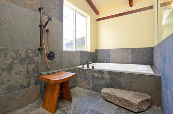 Badezimmer im japanischen Stil