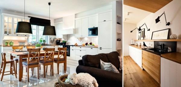 деревянная столешница белой кухни самстрой строительство дизайн