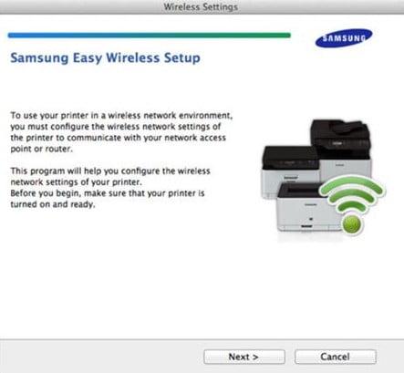 Samsung Printer Connection