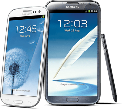Galaxy 3 and S4 from Samsung
