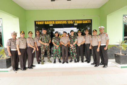 Kunjungan Kerja Kapolda Kepri ke Markas Yonif Raider Khusus 136/Tuah Sakti, SamuderaKepri