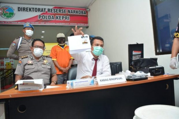 Pemusnahan Barang Bukti Narkotika Jenis Sabu di Polda Kepri, SamuderaKepri