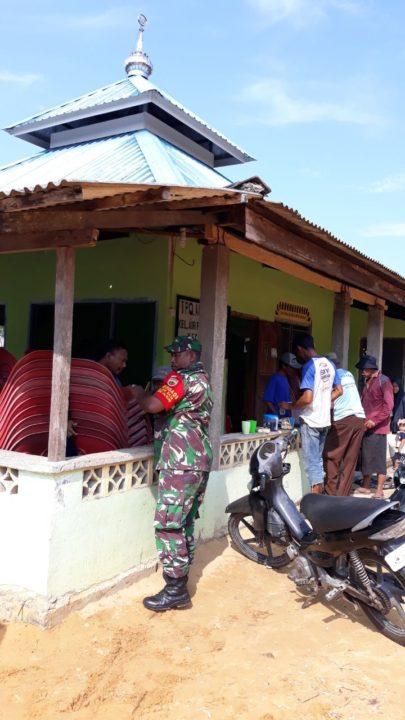Giat Humanis Babinsa Kelurahan Air Raja Goro  Bersama Warga Di Masjid Al-hidayah