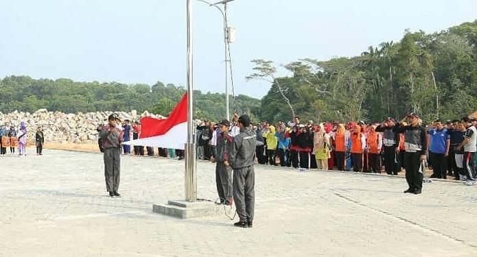 , Bupati Anambas Pimpin Upacara Peringatan Hari Olahraga Nasional ke- 36, SamuderaKepri