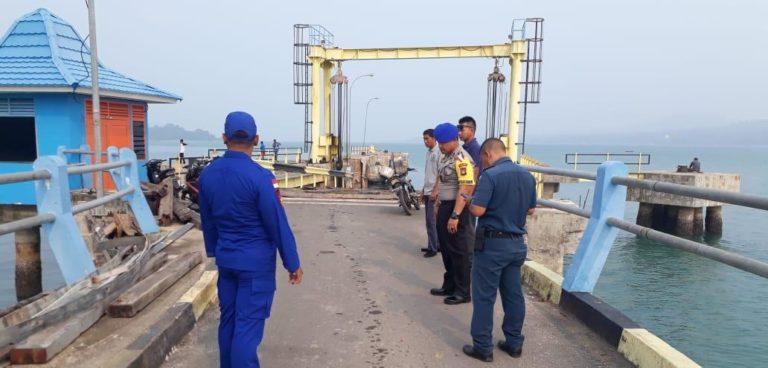 SatPolairud Polres Lingga Bersama Instansi Terkait Adakan Monitoring ke Pelabuhan Roro Jagoh