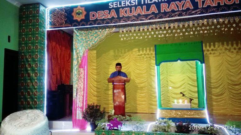 STQ Ke-6 Tingkat Desa Kualaraya Tahun 2019 Resmi Dibuka