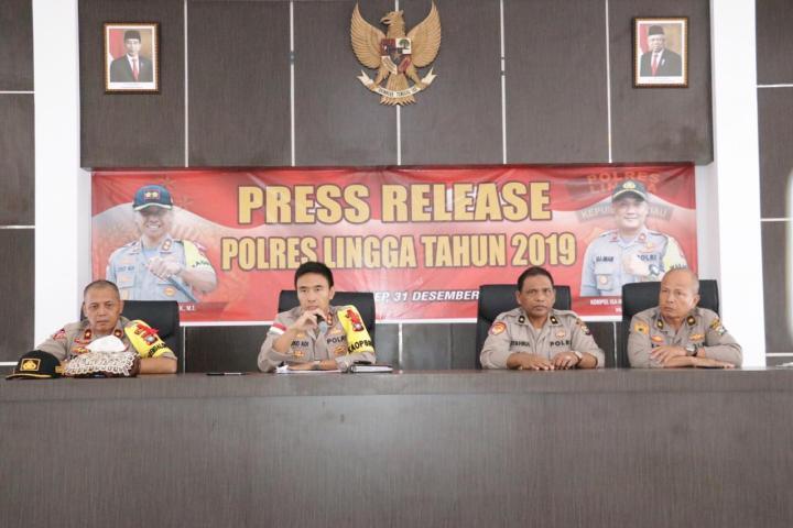 Press Release Akhir Tahun 2019 Polres Lingga, Ini Kata Kapolres, SamuderaKepri