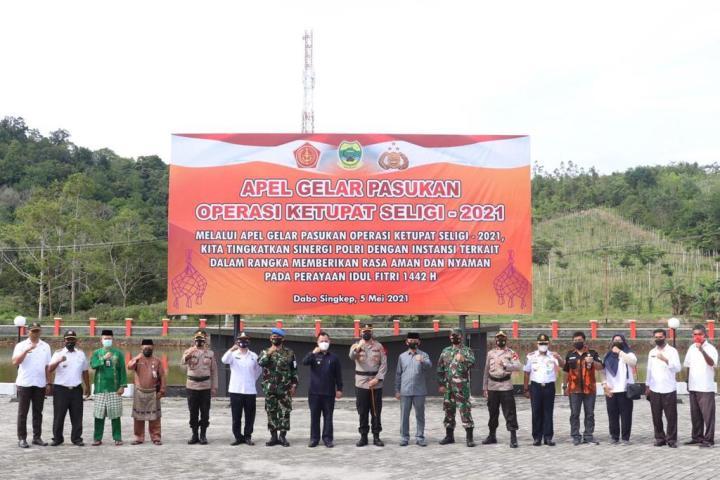 Polres Lingga Gelar Apel Pelaksanaan Operasi Ketupat Seligi 2021, SamuderaKepri