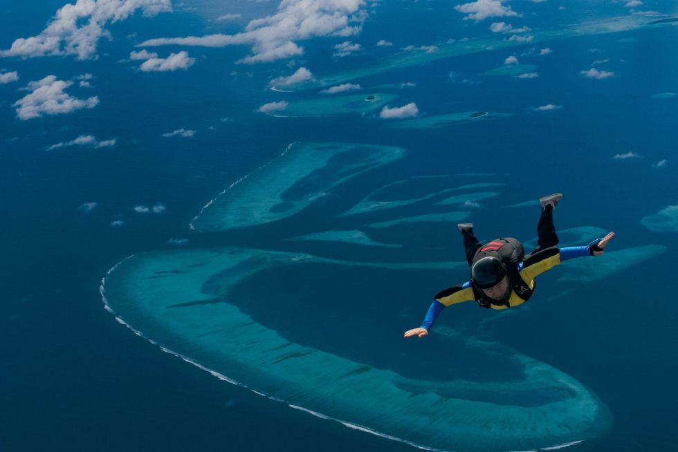 The best time to try Skydiving in the Maldives