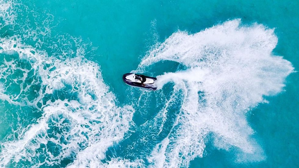 Jet Skiing in The Maldives