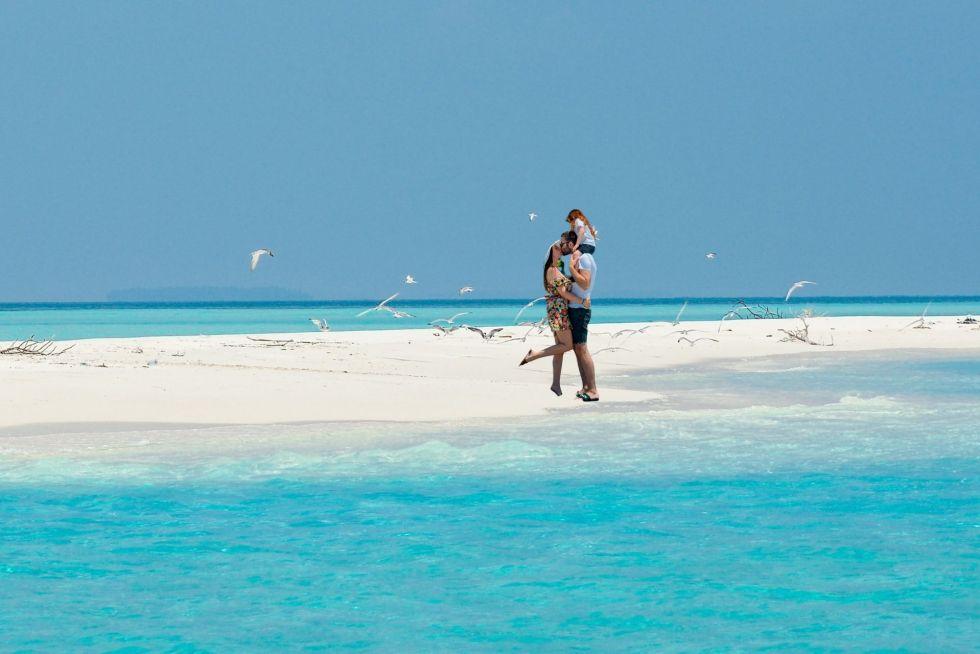 Sandbank Picnic in Maldives with Family
