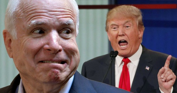 Trump warns McCain: 'Be careful because at some point I ...