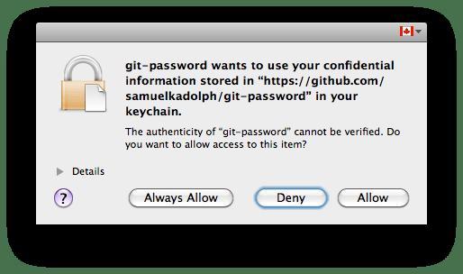 Mac OS X Keychain prompt