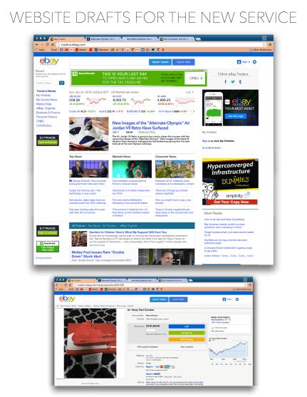 Web design for eBay extension service, Consumer Behavior class, Spring 2016