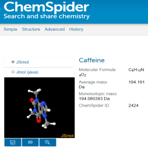 interactive 3D model of caffeine 2