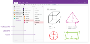 OneNOte consistent layout